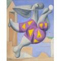Купальщица с мячом на пляже - Пикассо, Пабло