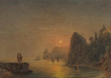 Закат солнца над побережьем - Айвазовский, Иван Константинович
