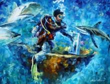 Под водой - Афремов, Леонид (20 век)