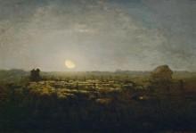 Отара овец в лунном сиянии - Милле, Жан-Франсуа