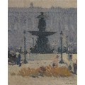 Фонтан на площади Согласия в Париже, 1925 - Мартин, Анри Жан Гийом Мартин