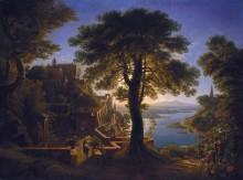 Замок на берегу реки - Шинкель, Карл Фридрих