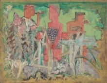 Мужчина и две женщины в сельском пейзаже - Ротко, Марк
