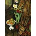 Натюрморт с тюльпанами и вазой с фруктами - Валадон, Сюзанна