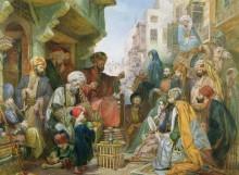 Уличная сценка в Каире - Льюис, Джон Фредерик