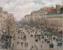 Бульвар Монмартр - день, солнечный свет, 1897 - Писсарро, Камиль