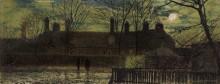 Уличная сценка в лунную ночь - Гримшоу, Джон Аткинсон