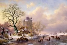 Зимний пейзаж с замком - Круземан, Фредерик Маринус