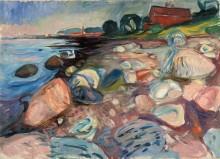 Вид на побережье с красным домом - Мунк, Эдвард