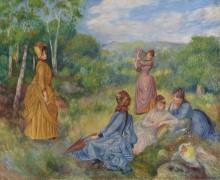 Девушки, играющие в бадминтон - Ренуар, Пьер Огюст