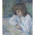Читающая женщина - Тулуз-Лотрек, Анри де