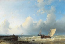 Рыболовные лодки у берега - Халк, Абрахам Старший