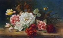 Натюрморт с розами - Зацка, Ханс