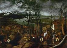Пасмурный день - февраль - Брейгель, Питер (Старший)