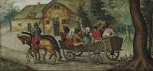 Крестьяне в повозке - Брейгель, Питер (Младший)