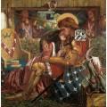 Бракосочетание святого Георгия и царицы Сабры - Россетти, Данте Габриэль