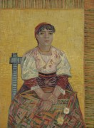 Итальянка (Italian Woman (Agostina Segatori), 1887 - Гог, Винсент ван