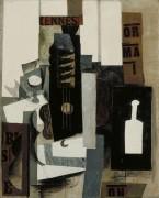 Гитара, фужер и бутылка - Пикассо, Пабло