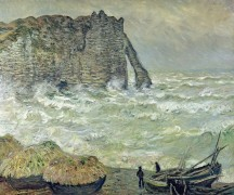 Бурное море в Этрета - Моне, Клод