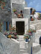 Белые домики в Сарторини, Греция - Борелли, Гвидо (20 век)