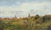 Пейзаж в Схевенингене - Коро, Жан-Батист Камиль