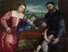 Портрет Джованни делла Вольта с женой и детьми - Лотто, Лоренцо