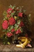 Натюрморт с розами, бананами и фигами - Дуган, Сьюзи
