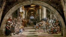 Станца Илиодора: Изгнание Илиодора из храма - Рафаэль, Санти