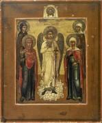Ангел-хранитель с четырьмя избранными женами (конец XVIII века)