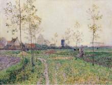 Осенний пейзаж близ Кнокке, 1894 - Баум, Пауль