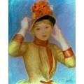 Девушка в желтой блузе - Ренуар, Пьер Огюст