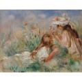 Девочки на траве - Ренуар, Пьер Огюст