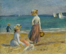 На пляже - Ренуар, Пьер Огюст