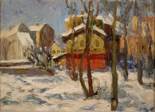 Зима в Швабинге - Кандинский, Василий Васильевич