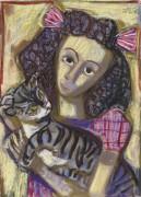 Девочка с котом - Дикс, Отто