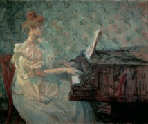Мися Натансон за пианино - Тулуз-Лотрек, Анри де