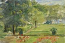 Цветочная терраса в саду Ванзе, 1923 - Либерман, Макс