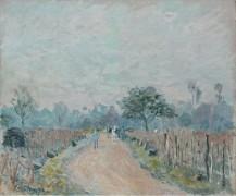 Дорога Прюне в Буживале, 1874 - Сислей, Альфред
