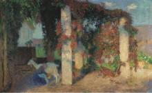 Молодая девушка доит козу в Арбур  Маркьироль, 1910 - Мартен, Анри Жан Гийом