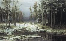 Первый снег, 1875 - Шишкин, Иван Иванович