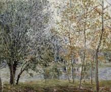 Канал Луэн весной - Сислей, Альфред