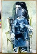 Жаклин, сидящая в кресле - Пикассо, Пабло
