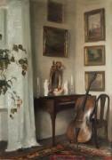 Комната с виолончелью - Холсё, Карл Вильхельм