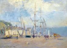В порту в Онфлер, 1893 - Лебург, Альберт