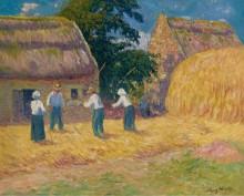 Молотьба зерна, 1897 - Море, Анри