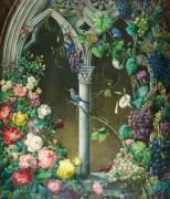Розы, ипомея и виноград - Прево, Эжен-Жозеф