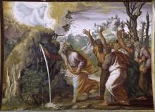 Моисей высекает воду из скалы - Рафаэль, Санти