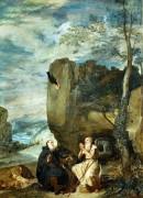 Святые Антоний и Павел в отшельничестве - Веласкес, Диего