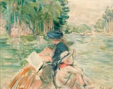 Женщина с ребенком в лодке - Моризо, Берта