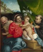 Мадонна с Младенцем со святыми Иеронимом и Николаем - Лотто, Лоренцо
